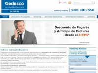 Gedesco.es - Descuento de Pagares. Delegaciones en toda Espa&ntilde;a
