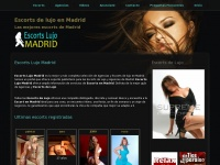 Escorts Lujo Madrid. Escorts Madrid