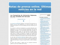 Notas de prensa online. &Uacute;ltimas notic&iacute;as en la red